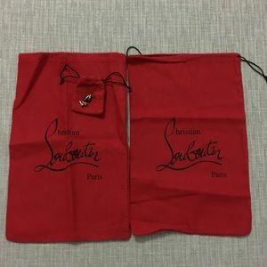 AUTH Christian Louboutin dust bags 2 heel tips 2